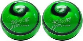 EPCO-Duckpin-Bowling-Ball-2-Comet-Pro-Rubber-Green-Black-White-Balls