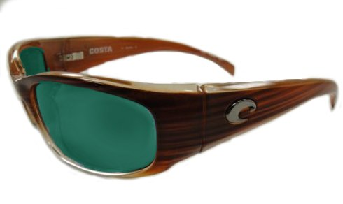 Costa Del Mar Sunglasses - Hammerhead- Glass / Frame: Wood Fade Lens: Polarized Green Mirror Wave 580 - Costa Sunglasses Hammerhead