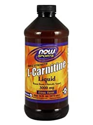 NOW Sports - Liquid L-Carnitine (Citrus Flavor) 3000 mg - 16 fl. oz (473 ml) by