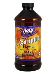 NOW Sports Liquid L Carnitine (Citrus Flavor) 3000 mg 16 fl. oz (473 ml) by