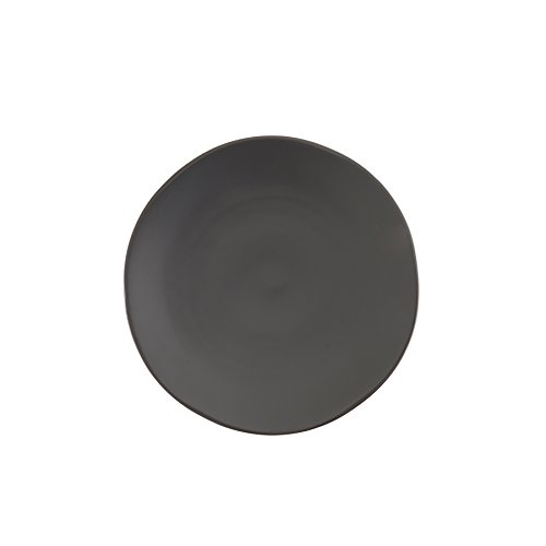 Fortessa Vitraluxe Dinnerware Heirloom Matte Finish Salad Plate 8-Inch, Charcoal, Set of 4