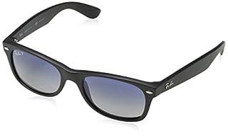 Ray-Ban RB2132 New Wayfarer Sunglasses,52 mm, Matte Black Frame/Blue-Grey Polarized Lens (B0095I9UKY)   Amazon price tracker / tracking, Amazon price history charts, Amazon price watches, Amazon price drop alerts