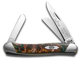 Case Cutlery S9318RF Stockman Pocket Knife, Small, Rain Forrest (Pocket Large Stockman Knife)