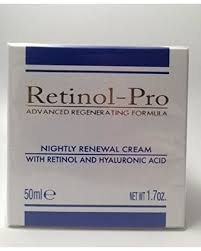 Retinol-pro advanced regenerating formula nightly renewal cream with retinol and hyaluronic acid 1.7 oz. Made in Italy (Regenerating Formula)