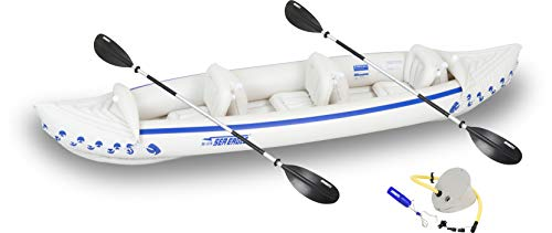 Sea Eagle Inflatable SE370 3 Person Inflatable Kayak Start Up Package (Sea Eagle Se370 Inflatable Kayak With Pro Package)