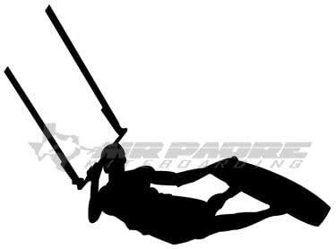 Pegatina Promotion Surfer Kitesurfer Typ 2 20 Cm Aufkleber Sticker Autoaufkleber Wandtattoo Surf Kite Surfen Wassersport Fun Sea Auto