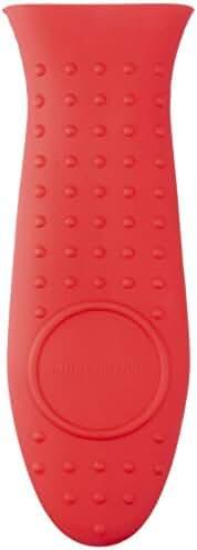 AmazonBasics Silicone Hot Handle Holder, Red