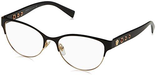 Versace VE1237 Eyeglass Frames 1342-53 - 53mm Lens Diameter Black/Gold - Gold Versace Eyeglasses And Black