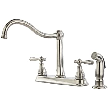 Pfister Ainsley 2 Handle Kitchen Faucet With Side Spray