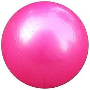 كرة يوغا وايروبيك ولياقة بدنية وقاعات رياضة منزلية مقاومة للانفجار، 65 سم، زهري