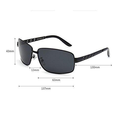 Conduite Cadre Hommes Lunettes UV Al Alliage MG 100 Polarisée Soleil Rectangulaire Black Superlight ZHHL de wXtTq