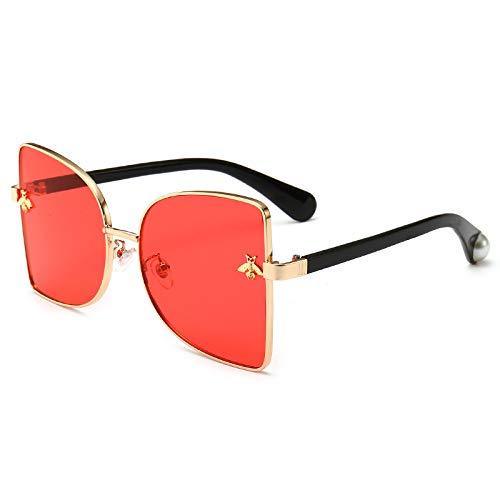 Yangjing-hl Gafas Marea Hombres Gafas de Sol Metal Ojos de ...