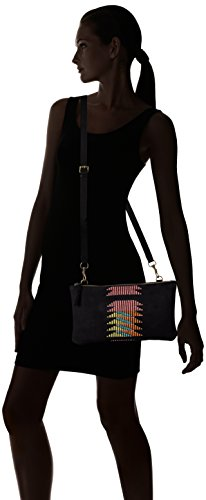 suede Berlin Noir Schwarz Sacs Leather 9999 Liebeskind Embroidery Bandoulière black Carol qawFtFZ