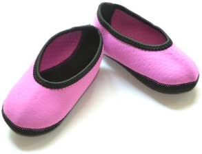 Nufoot Indoor Toddler Shoes Ballet Flat, Pink, Size 9T- 12T 2 Count