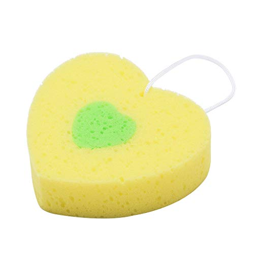 Bath Sponge Cartoon Flower Shaped Comfortable Cute Kids Body Sponges Scrubbers (Color - - Coffee Flower Curved Blue