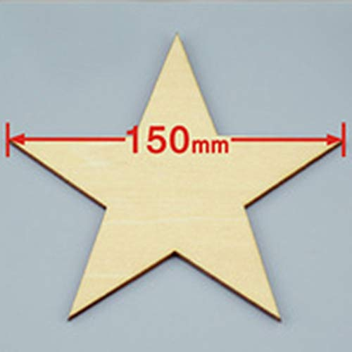 PatyHoll 15Pcs /Lot Blank Unfinished Wooden Pentagram Crafts Supplies Laser Cut Rustic Wood Wedding Rings Ornaments 150mm 171154