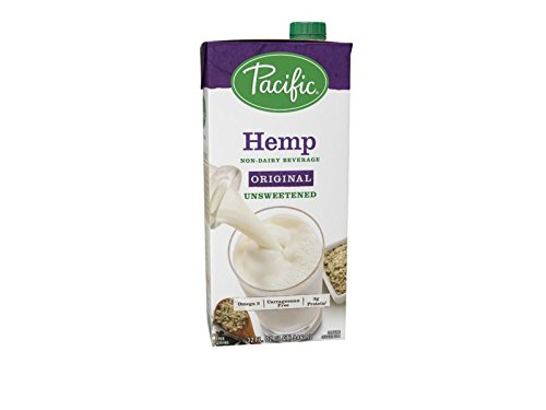 Pacific Foods Unsweetened Hemp Non-Dairy Beverage, Original, 32-Ounce Cartons, 12-Pack