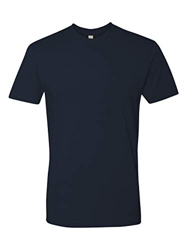 Next Level Mens Premium Fitted Short-Sleeve Crew T-Shirt - Large - Midnight ()