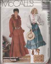 OOP 1994 McCALL'S SEWING PATTERN 7130 - MISSES' WESTERN TOPS & SKIRTS SIZE: AX (4, 6, ()