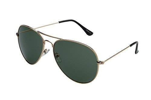 aviador de ORO Gafas gafas de inkl OLIVA de sol softbag alpland sol F4w1xTqA