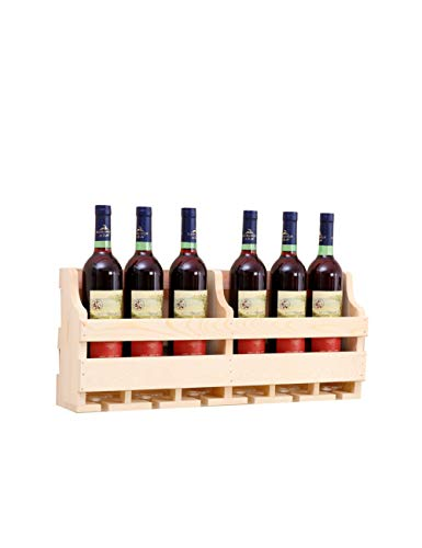 LIANGZAI Wall-Mounted Wine Rack and Glass Holder, Solid Wood Pine, Retro Wine Storage Rack, Home and Kitchen bar Decoration Accessories, Shelf and Inverted high Glass Wine Rack (Color : A 6011.525cm)