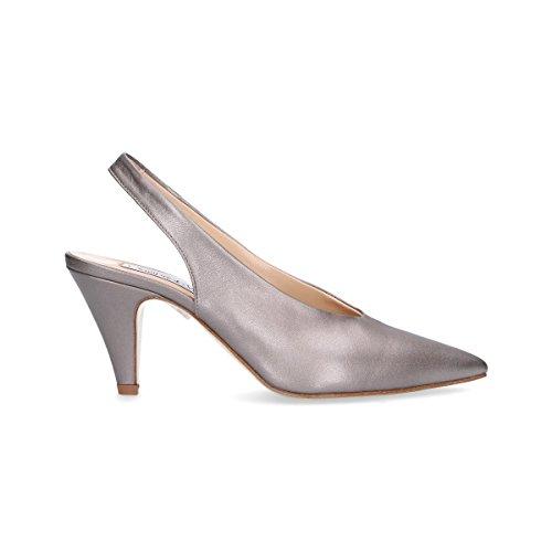 Zapatos Mujer EF602G Giampaolo Cuero Gris Altos Viozzi 6XTxqw0H