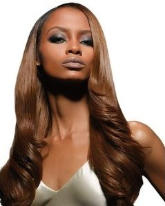 (Velvet Remi Human Hair Weave - Yaki Weaving (20 inch, 1B - Off Black))