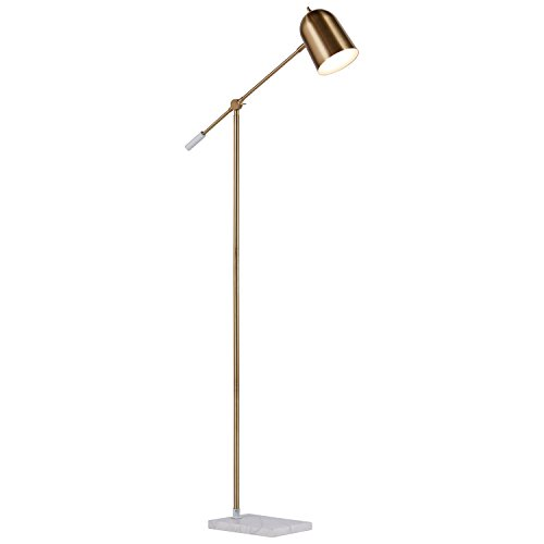 "Brass Floor Lamp Amazon: Rivet Avery Marble And Brass Floor Lamp, 63""H, With Bulb"