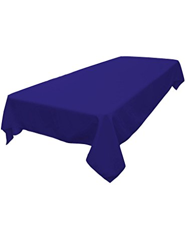 - LA Linen Polyester Poplin Rectangular Tablecloth, Royal, 60