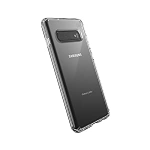 Speck Products Compatible Phone Case for Samsung Galaxy S10+, Presidio Stay Clear Case, Clear/Clear