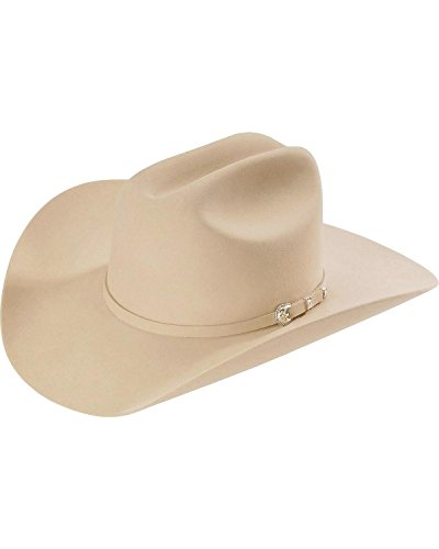 - Stetson Men's Silverbelly 10X Shasta Fur Felt Western Hat Silverbelly 7 1/4