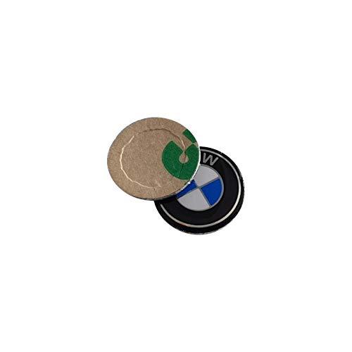 (Bross BDP532 2 Pieces Key Fob Remote Badge Logo Emblem Sticker Dia:11mm for BMW )