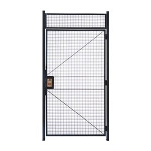 WireCrafters HD3712 840 Specs Hinge Door Woven Wire Partition, Gray by Wirecrafters
