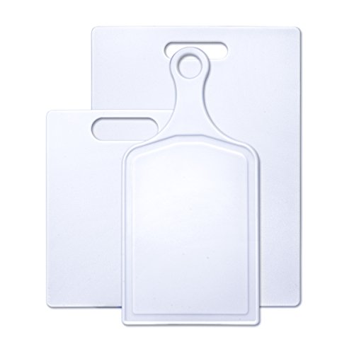 Farberware 3-Piece Plastic Cutting Board Set, Assorted (Board Material)