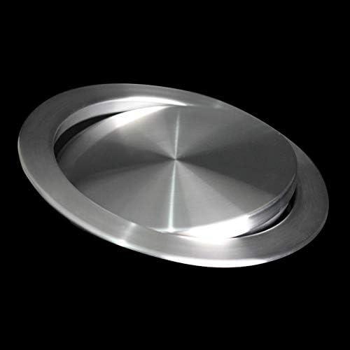 Rect/ángulo RETYLY Tapa de La Tapa de La Cocina Acero Inoxidable Empotrado Empotrado Empotrado Tapa de La Tapa de La Tapa Basurero Recipiente de Basura Tapa de La Basura Encimera