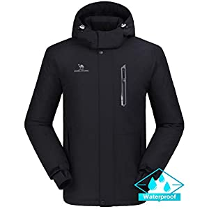 CAMEL CROWN Ski Jacket Men Waterproof Warm Cotton Winter Snow Coat Mountain Snowboard Windbreaker Hooded Raincoat