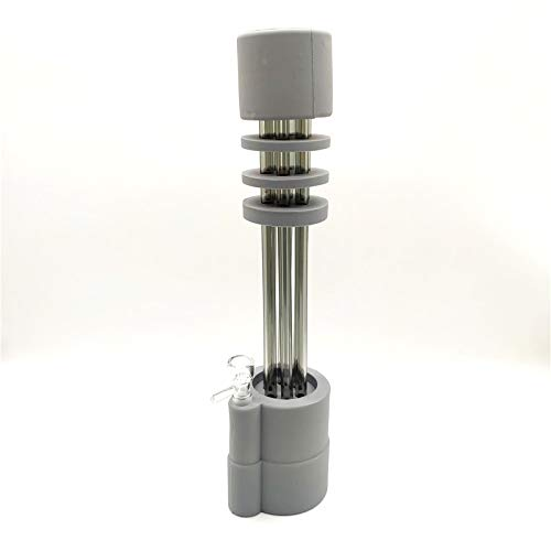 Newest Design 11.7 Inch Silicone Pipes Three Filtration Water Pipe Percolator Glass ()