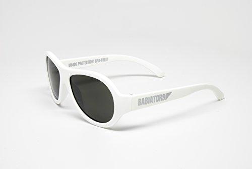 7ff1e350e9d Babiators Unisex Original Aviator Sunglasses - Wicked White with Black  Lenses - Junior 0-3yrs (B007RF987C)