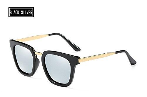 sol polarizadas mujeres D'epoca silver Sunglasses Unisex del TL brown de de Piazza metal black gafas del hombres dibujo txYp0xvqw