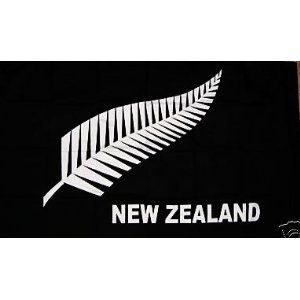 5 x 3/' New Zealand Fern Flag 5ft 3ft With Metal Eyelets