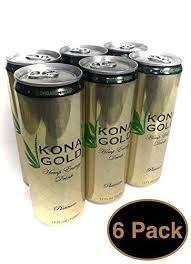 315xwH9PEDL - Kona Gold Hemp Energy Drink, Platinum, 12 FL OZ, (Pack of 6)
