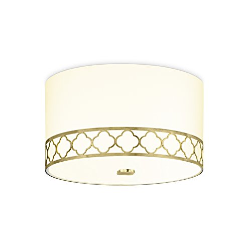 Fabric Drum Flush Mount - 14
