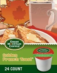 Green Mountain *Circumscribed Edition* FAIR TRADE GOLDEN FRENCH TOAST (2 Boxes of 24 K-Cups)