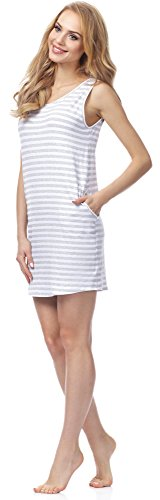 Camicia MSFX592 Notte Donna da Merry Bianco Style Melange XRvxqU5