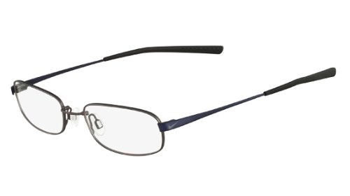 Charcoal Clear Glass - Nike 4190 Eyeglasses 12 Charcoal Matte Blue Clear Demo 52 18 145