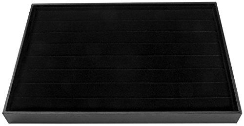 Darice-Jewelry-Ring-Display-Tray-94-by-138-Inch-Black-Velvet-New-Free-Shi