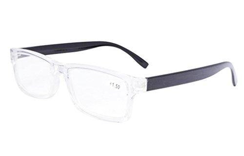 Eyekepper Quality Clear Frame Plastic Reading Glasses - Plastic Glasses Cheap Reading