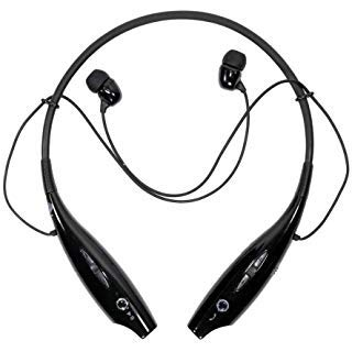 SYSTEM BREAKER? HBS 730 Neckband Bluetooth Headphones Earphone Wireless Headset with Mic for All Smartphones Black
