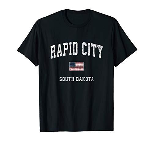 Rapid City South Dakota SD Vintage American Flag Sports T-Shirt (Liberty City Rapid)