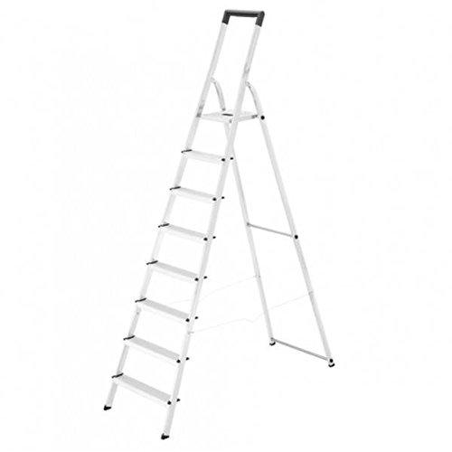 Hailo 0005250 Modelo L40 Escalera de Tijera, Fabricada en Aluminio, EasyClix, Versión de 8 Peldaños: Amazon.es: Industria, empresas y ciencia